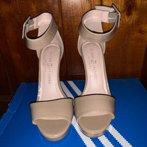 nude heels. brand new!!!